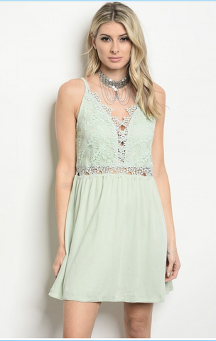 MIRANDA'S MINT LACE DRESS - B ANN'S BOUTIQUE