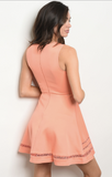 PRETTY AS A PEACH A-LINE MINI DRESS - B ANN'S BOUTIQUE