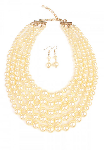 PERFECT PEARL NECKLACE & EARRINGS - B ANN'S BOUTIQUE