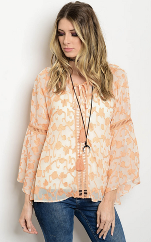 CREAMSICLE TOP - B ANN'S BOUTIQUE