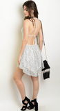 BLACK & WHITE PARTY IN THE BACK DRESS - B ANN'S BOUTIQUE