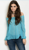 OCEAN WAVES BLOUSE - B ANN'S BOUTIQUE