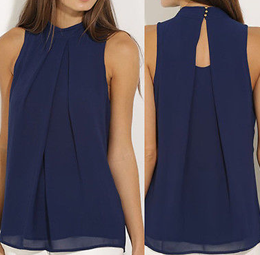 NAVY NIGHTS SHELL TOP - B ANN'S BOUTIQUE