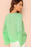GEORGIE'S GREEN BOHO BLOUSE - B ANN'S BOUTIQUE
