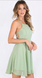 LAUREN LACE-UP BACKSIDE DRESS - B ANN'S BOUTIQUE