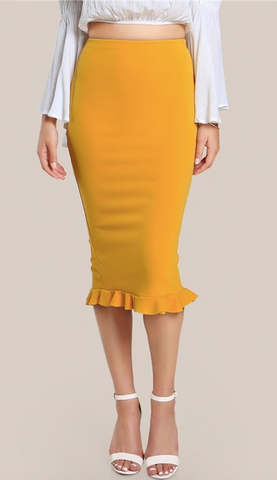 RAE'S RUFFLE PENCIL SKIRT - B ANN'S BOUTIQUE