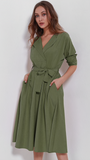 THE SADIE SUEDE WRAP DRESS - B ANN'S BOUTIQUE