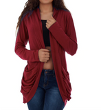 RAE'S RUCHED CARDIGAN