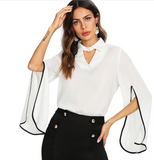 BLACK & WHITE SO RIGHT BLOUSE - B ANN'S BOUTIQUE