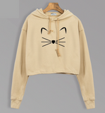 THE CROPPED KITTY HOODIE - B ANN'S BOUTIQUE