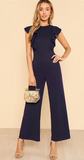NAVY NIGHTS RUFFLE JUMPSUIT - B ANN'S BOUTIQUE