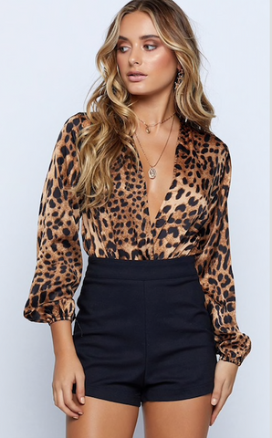 LEOPARD LOVE BODYSUIT - B ANN'S BOUTIQUE