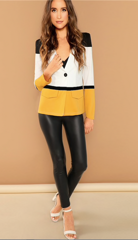 THE COLOR-BLOCK BLAZER
