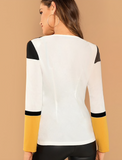 THE COLOR-BLOCK BLAZER - B ANN'S BOUTIQUE