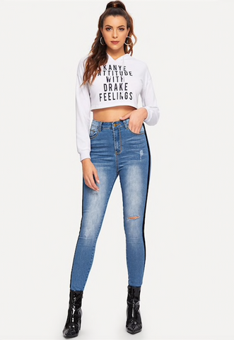 BELLA BLACK LINE JEANS - B ANN'S BOUTIQUE