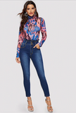 ROXIE RUFFLE SKINNY JEANS - B ANN'S BOUTIQUE