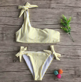 THE SHOULDER STRIPE BIKINI - B ANN'S BOUTIQUE