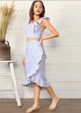 BLUE & WHITE SKIES SKIRT SET - B ANN'S BOUTIQUE