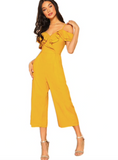 GOLDEN RUFFLES JUMPSUIT