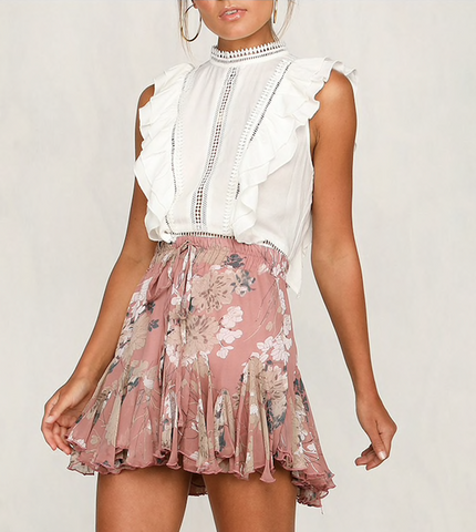 PRETTY IN PINK PETALS SKIRT - B ANN'S BOUTIQUE