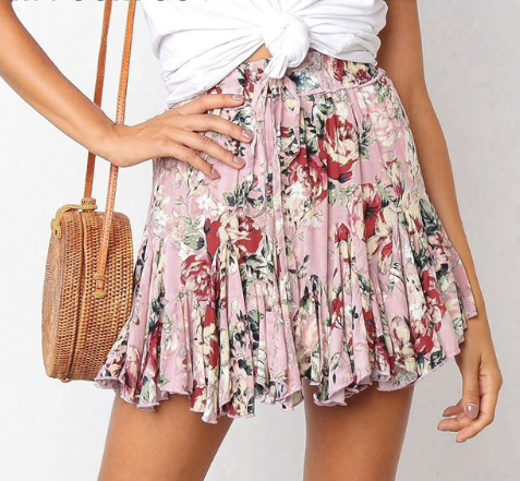 FABULOUS IN FLORAL SKIRT - B ANN'S BOUTIQUE