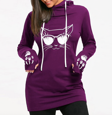 CAT SHADES HOODIE - B ANN'S BOUTIQUE