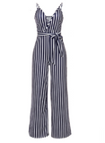 STRIPES ARE RIGHT JUMPSUIT - B ANN'S BOUTIQUE