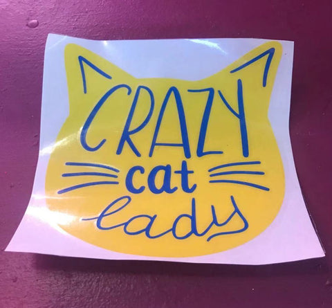 CRAZY CAT LADY WINDOW DECAL