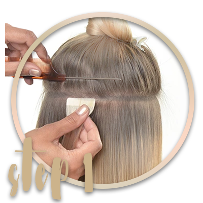 Tape-in extensions anwendung