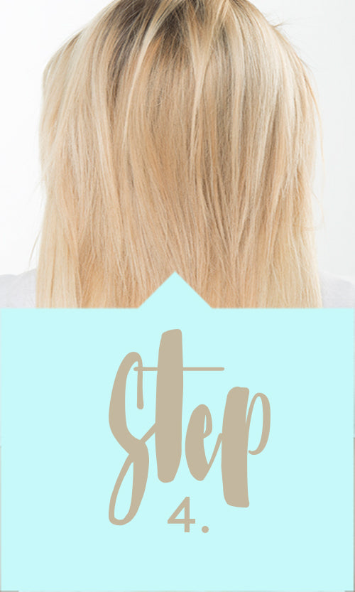 Step 4 - How to attach halo hair extensions