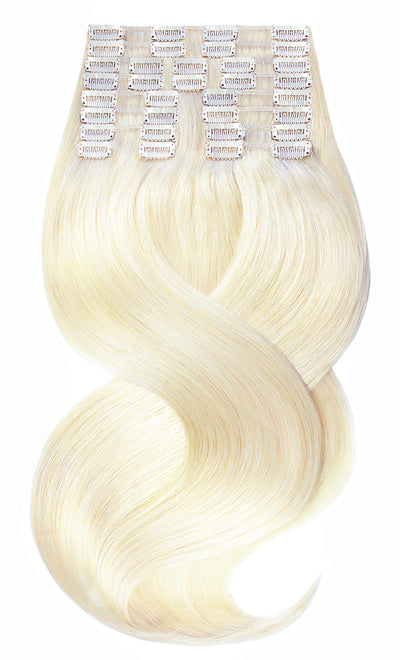 Deluxe Clip-in Hair Extensions Goldblond