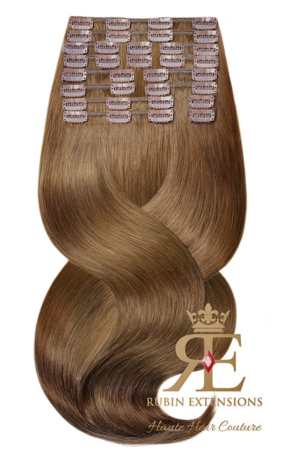 100% Remy Human Hair Extensions - Natural Golden Brown