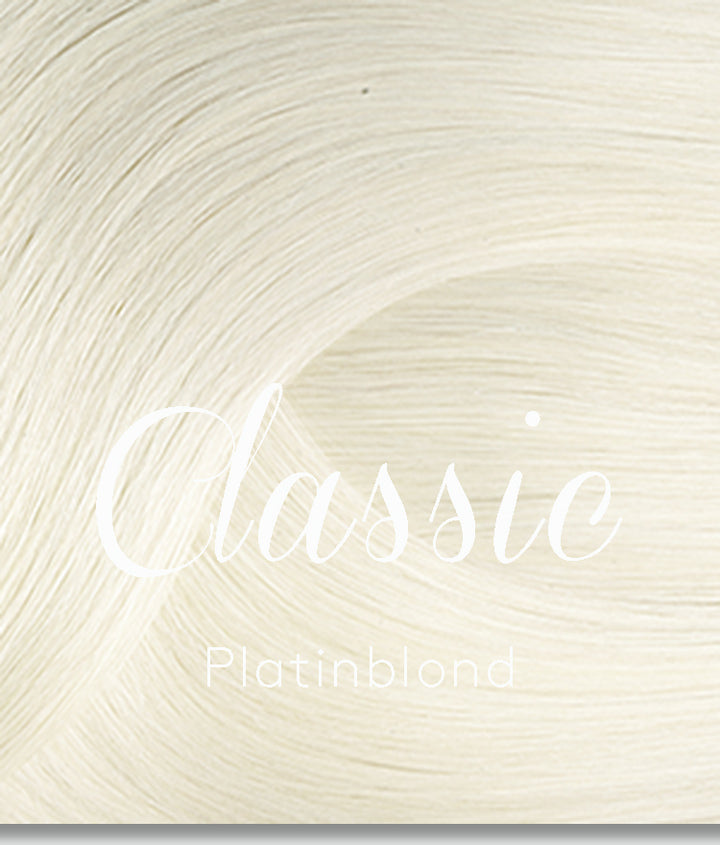 Platinblond clip-in hair extensions