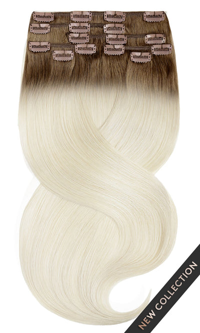 SOMBRÉ FASHION LINE Natur-Goldbraun & Hellblond Clip-in Extensions