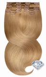 PURE DIAMONDS LINE Hellbraun-Karamell Ombre Clip in Extensions