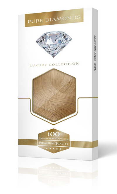 PURE DIAMONDS LINE Hellbraun-Karamell Clip-in Extensions