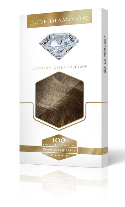PURE DIAMONDS LINE Natur-Goldbraun Flip-in Extensions