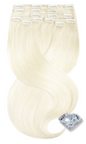 Remy Clip-in Hair Extensions - PURE DIAMONDS LINE Platinblond