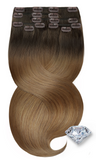 Ombre Rich Chocolate Clip-in Remy Hair Extensions