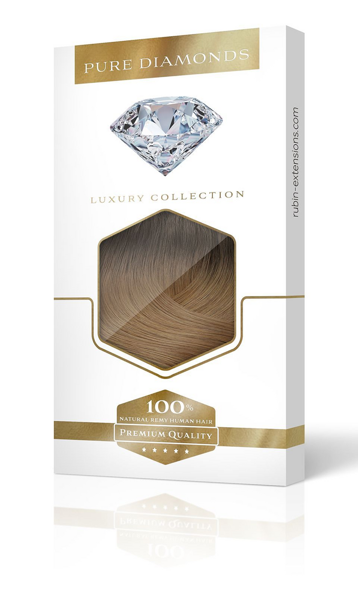 Ombre Clip-in Hair Extensions PURE DIAMONDS LINE Rich Chocolate