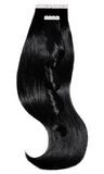 100% Real Human Hair Tape-in Extensions - Schwarz