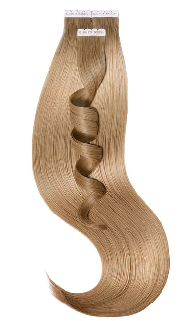 Tape-in Extensions Luxus Haar Hellbraun-Karamell