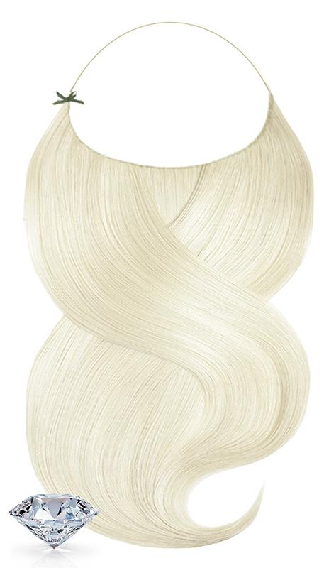 Flip-in Hellblond Pure Diamonds Hair Extensions