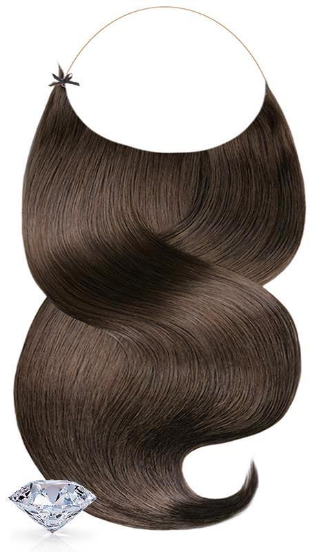 PURE DIAMONDS LINE Kastanien-Dunkelbraun One Piece Hair Extensions