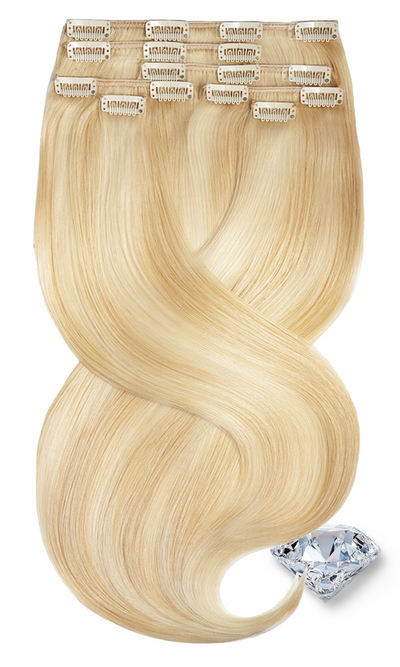 Ombré Honigblond & Hellblond Clip-in Extensions Diamond Line