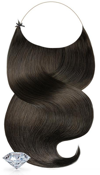 PURE DIAMONDS LINE Schwarz-Braun One Piece Halo Hair Extensions