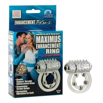 Maximus Enhancement Ring™ 5 Stroker Beads - Clear