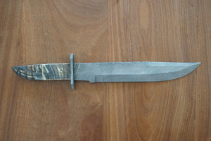 Bowie Knife/ Machete- High Carbon Damascus Steel Sword- Hunting Knife