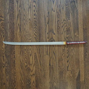 "Red Katana Sword- Handmade High Carbon Damascus Steel Sword- 40.5""- Samurai Sword"