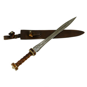 "Hispaniensis Gladius Sword- High Carbon Damascus Steel - 24""- Gladiator"